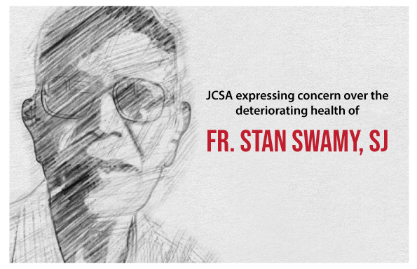 JCSA expressing concern over the deteriorating health of Fr. Stan Swamy, SJ